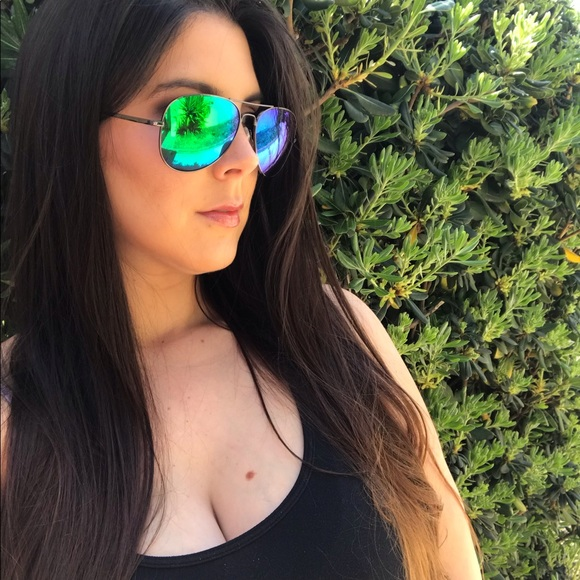 delicate colors get online best selling Green Mirrored Aviator Sunglasses Boutique